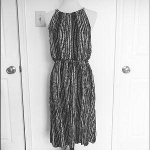 Size S Black and White Loft Dress